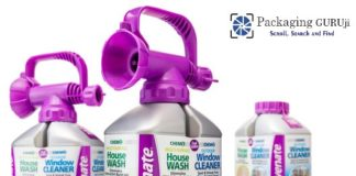 Invented a bottle for cleaning of Home and Window - Rejuvenate Dual operations-PackagingGURUji
