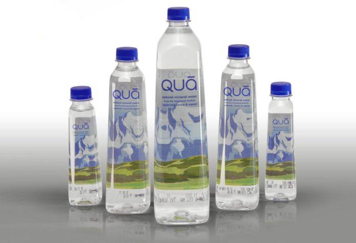 side panel label, wrap-around label, PET, Label, water bottle